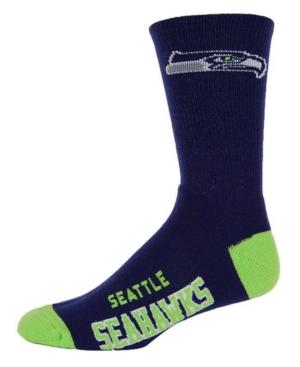 Fore Bare Feet Seattle Seahawks Deuce Crew 504 Socks