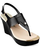 GUESS Magli Platform Wedge Thong Sandals Womens Shoes