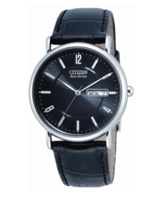 Leather Band Quartz Watch - Citizen
