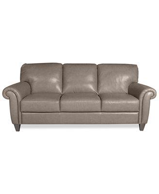 arianna leather sofa furniture macy s