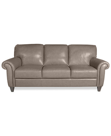 Arianna leather sofa furniture macy39s for Macy s sectional sofa leather