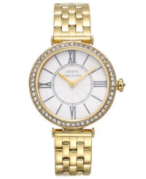 Juicy Couture Women's J Couture Gold-Tone Stainless Steel Bracelet Watch 34mm 1911127