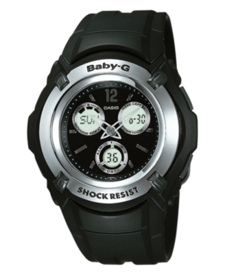 Baby-G Watch, Women's Black Atomic Strap BG1500A-1BV - Polyurethane Sports Watch
