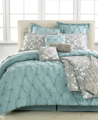Jasmine Blue 10 Piece King Comforter Set