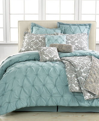 Jasmine Blue 10 Piece Comforter Sets Bed In A Bag Bed