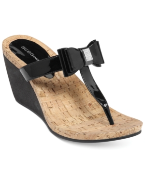 BCBGeneration Michelle Wedge Thong Sandals Women's Shoes