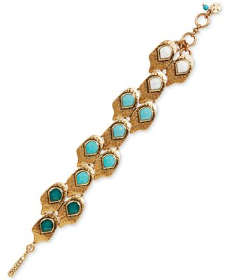 Lucky brand gold tone reconstituted bead fish scale for Macy s lucky brand jewelry