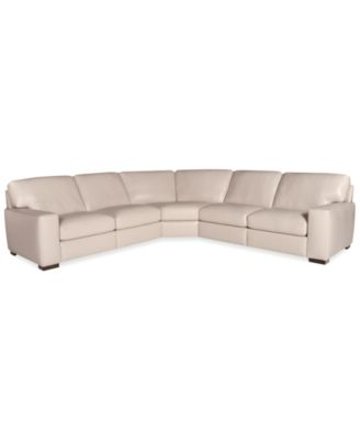 Fabrizio Leather 6 Piece Chaise Sectional Sofa Furniture