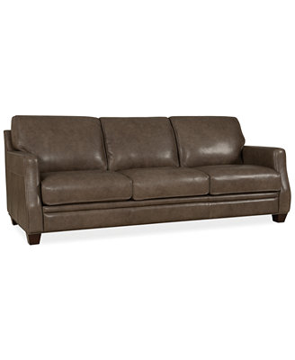 vaughn leather sofa furniture macy s