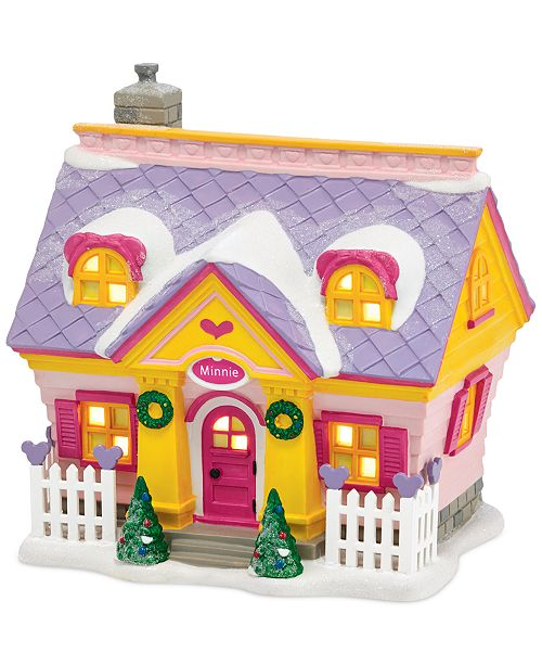 Department 56 Mickey S Village Minnie S House Collectible Figurine Reviews Shop All Holiday Home Macy S