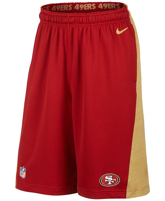 Nike - Men's San Francisco 49ers Fly XL Dri-FIT Shorts