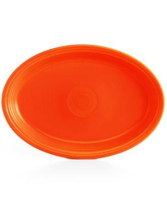 "Fiesta Poppy 19"" Oval Serving Platter"