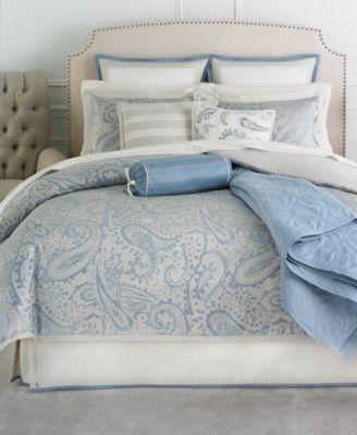 CLOSEOUT! Martha Stewart Collection Gemstone Paisley 22 Piece Queen Comforter Set