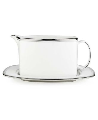 kate spade new york Library Lane Platinum Gravy Boat with Stand