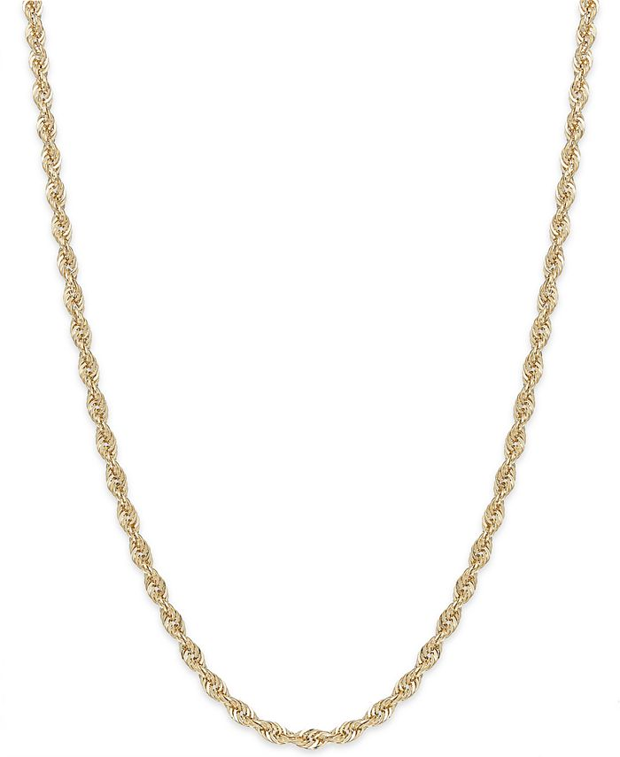 Macy's - Rope Chain Necklace in 14k Gold (1-3/4mm)