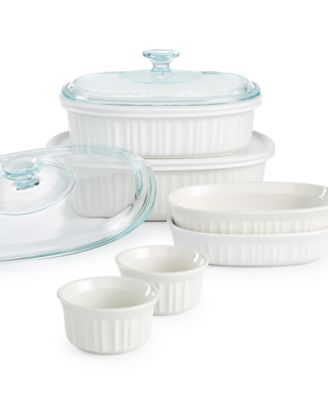 Corningware French White 10-Pc. Bakeware Set, Only at Macy's