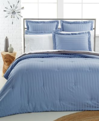 Charter Club Damask 500 Thread Count Pima Cotton Reversible Full/Queen Comforter, Only at Macy's