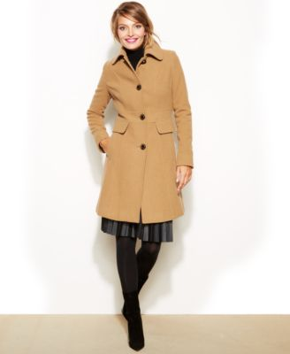 Kenneth Cole Reaction WoolBlend PointCollar Walker Coat