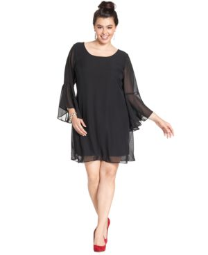 Trixxi Plus Size Crochet Shift Dress