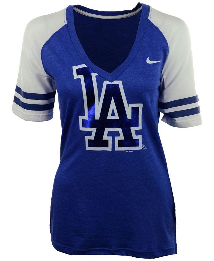Nike - Women's Short-Sleeve Los Angeles Dodgers Fan Top T-Shirt