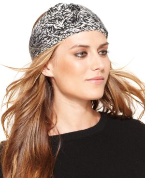 David & Young Marled Ombre with Sequin Yarn and Rosette Headband