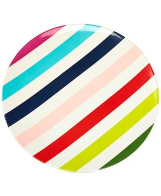 kate spade new york Multi Stripe Melamine Dinner Plate