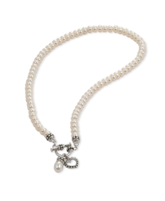 Fresh by Honora Children's Cultured Freshwater Pearl and Sterling Silver Toggle Necklace