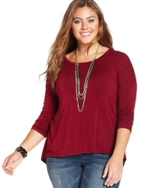 Ing Plus Size Lace-Back Top