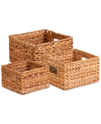 Honey Can Do 3-Piece Nesting Banana Leaf Basket Set