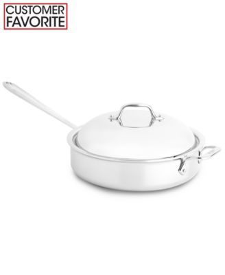All-Clad Stainless Steel 4 Qt. Covered Saute Pan