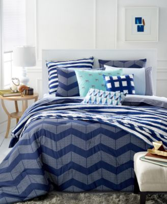 Whim by Martha Stewart Collection Spot Chevron 5-Pc. Full/Queen Duvet Set