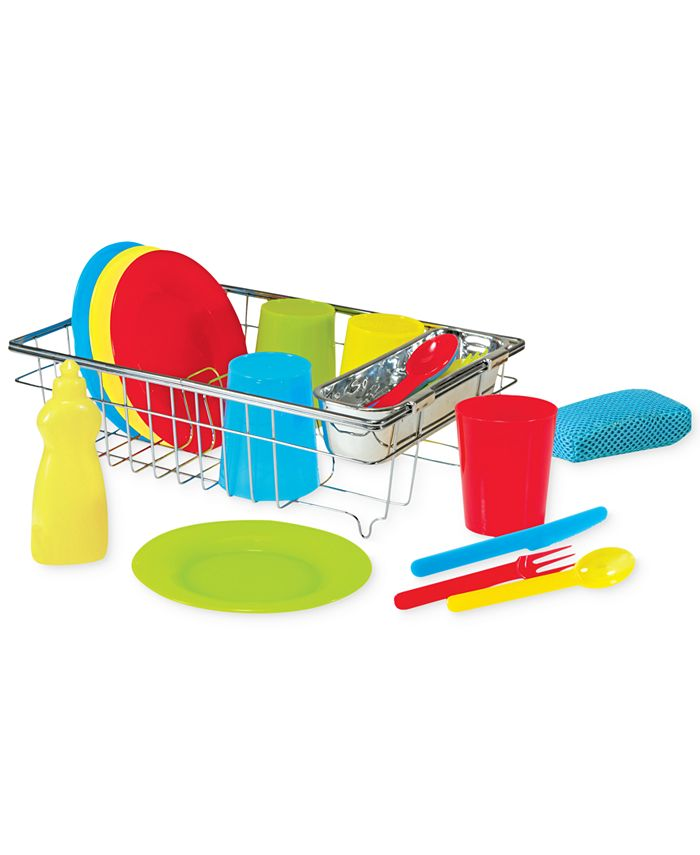 Melissa and Doug - Kids' Let's Play House Wash & Dry Toy Dish Set