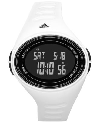 adidas Performance Men's Digital adiZero White Polyurethane Strap Watch 49mm ADP6107