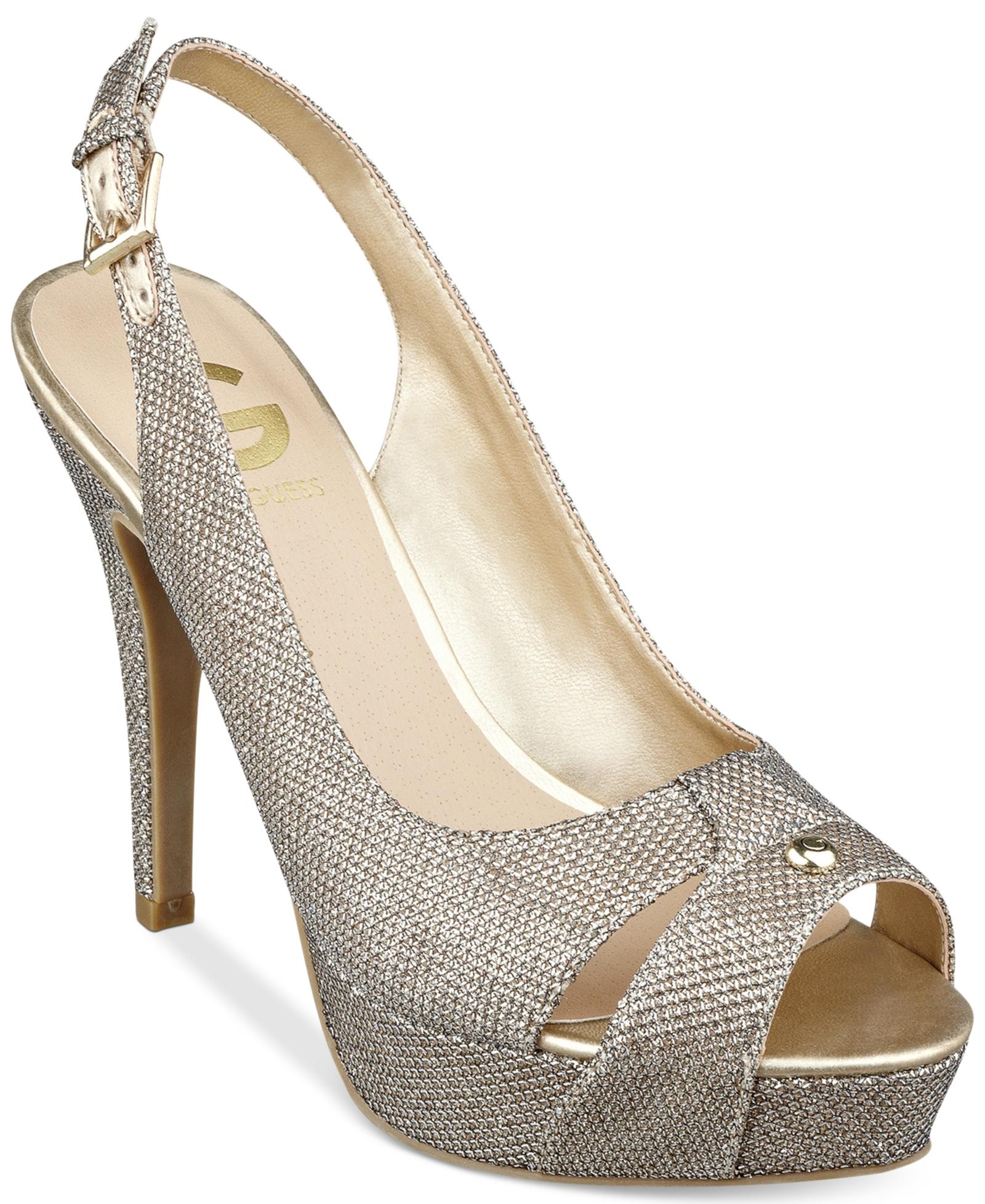 61dc26a89e8 G by Guess Women's Cathy Slingback Platform Pumps Women's Shoes | G ...