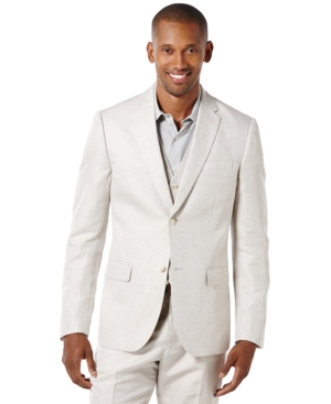 Perry Ellis Big and Tall Linen-Blend Two-Button Sport Coat $59.99 AT vintagedancer.com