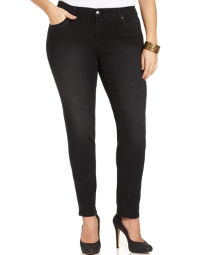 Seven7 Jeans Plus Size Curvy Skinny Jeans, Panther Wash