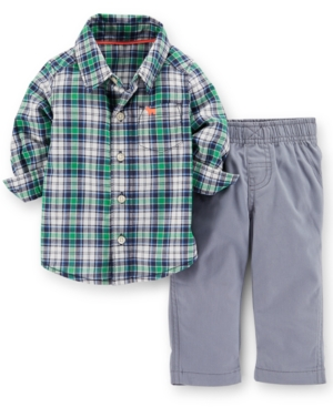 3cc68a243 ... UPC 888510438038 product image for Carter's Baby Boys' 2-Piece Plaid  Shirt & Pants