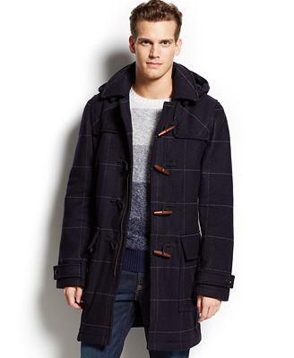 tommy hilfiger special benton checked duffle coat coats jackets. Black Bedroom Furniture Sets. Home Design Ideas