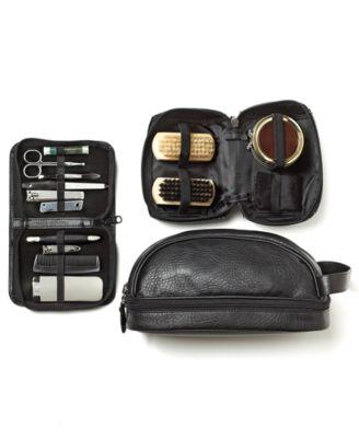 Perry Ellis Men's Faux-Leather Shave Kit