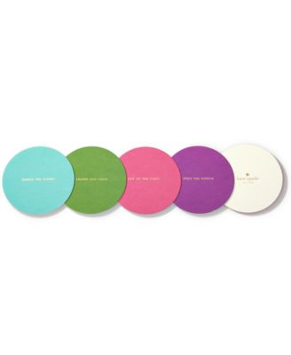 kate spade new york Small Talk Soiree Multi Colored Coaster Set