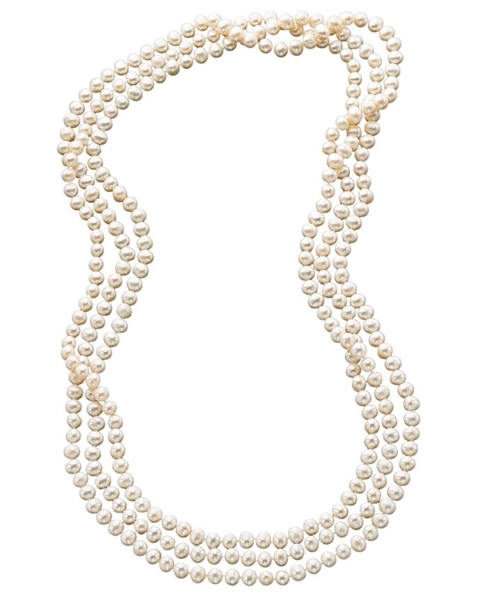 "Macy's - 100"" Cultured Freshwater Pearl Endless Strand Necklace (7-8mm)"