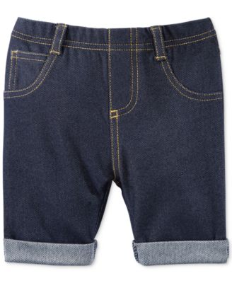 First Impressions Baby Girls' Denim Bermuda Shorts