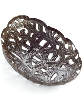 Heart of Haiti Small Oval Metal Tray