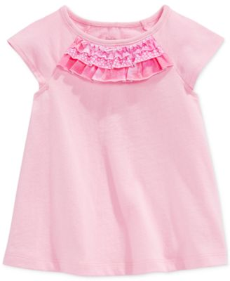 First Impressions Baby Girls' Ruffle-Neck Top