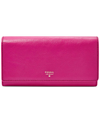 Fossil Sydney Leather Flap Wallet