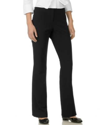 Jones New York Petite Pants, Signature Stretch Straight Leg