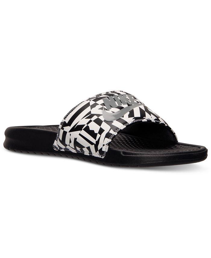 Nike - Men's Benassi JDI Print Slide Sandals from Finish Line