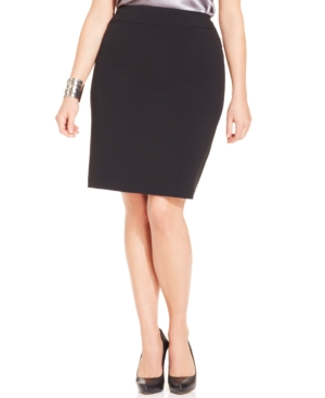 Nine West Plus Size Crepe Skirt