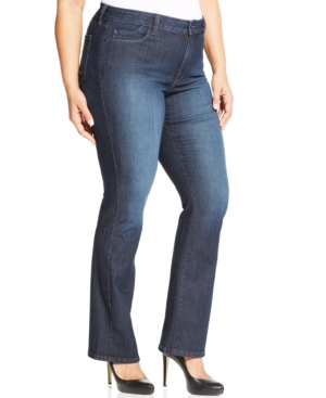 Nydj Plus Size Billie Bootcut Jeans, Burbank Wash