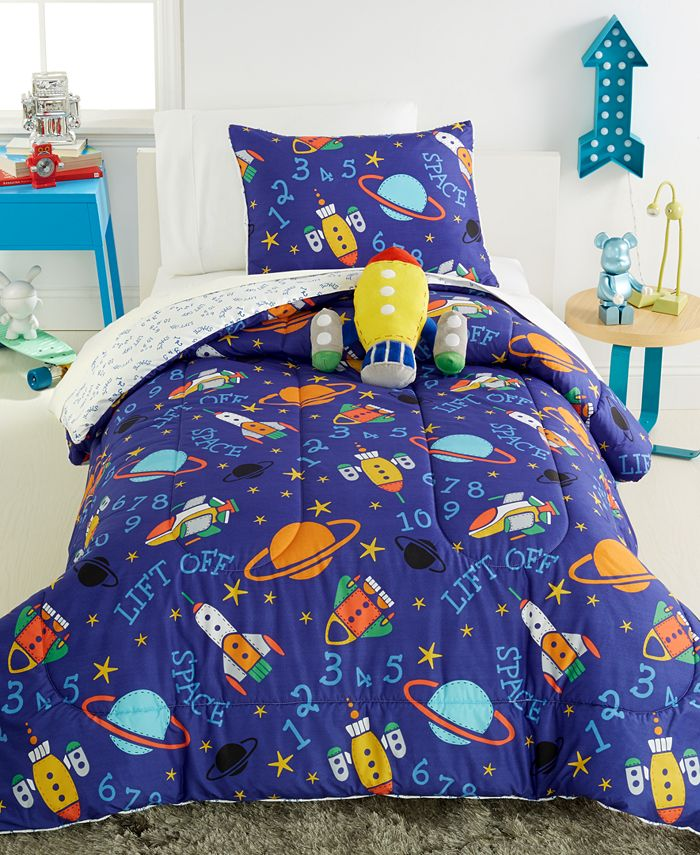 VCNY Home - Out Of This World Reversible 4 Piece Full Comforter Set